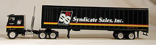 223-1080 HO Scale Con-Cor Semi  Tractor & 48' Trailer-Syndicate Sales, Inc