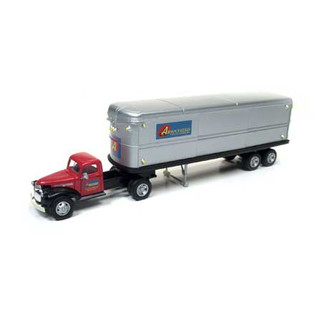 31172 HO Scale Classic Metal Works 1944-46 Chevy Tractor/Trailer-Associated Truck