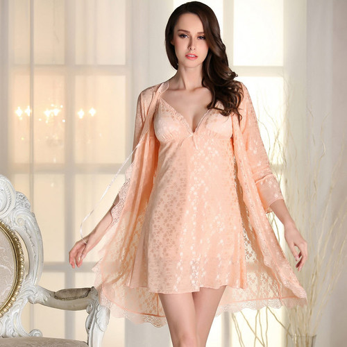 2 Pics Lace Bra Pink Babydoll Lace Nightgowns