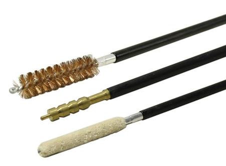 3 piece gun cleaning brush set bronze brush jag mop pistol 45cal