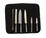 Max-Hunter Knife Roll Set - 5 Knives & Sharpener
