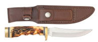 """schrade uncle henry golden spike hunting 5"""" knife leather sheath"""