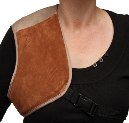 shoulder recoil absorbtion pad protection shotgun shooting clay