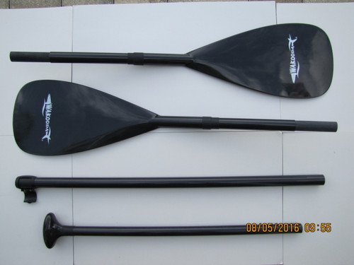 Total of 4 pieces to this set so you can set up an SUP paddle or a kayak paddle.