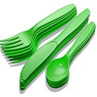 Cutlery Set 24 piece Green