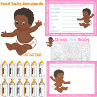 Baby Shower Host - Afrocaribbean 4 Game Pack (8 Guests)
