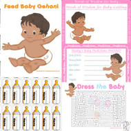 Baby Shower Host - Asian 4 Game Pack (8 Guests)