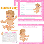 Baby Shower Host - Caucasian 4 Game Pack (8 Guests)
