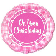 On Your Christening Foil Balloon Pink (1)