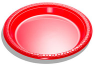 Red Lunch Plates (8)