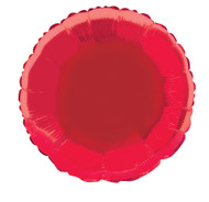 Red Round Foil Balloon 18 Inch
