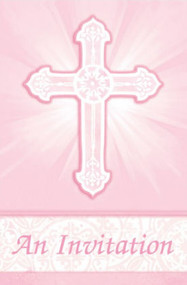 Radiant Cross pink Invites (8)