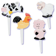 Farm Animal Cake Picks (9)