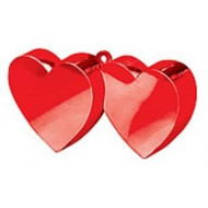 Double Heart Balloon weight Red