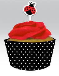 Ladybug Cupcake Decorating Kit (12)
