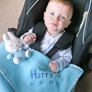 Personalised Baby Blanket Blue (50x80cm)