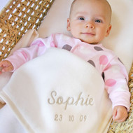 Personalised Cream Blanket (50cmx80cm)