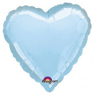 Heart Foil Pale Blue Balloon (1)