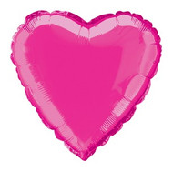 Hot Pink Heart Foil Balloon (18 inch)