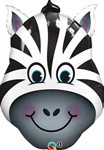 Zebra Face Foil Balloon (32in)