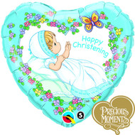 Precious Moments Christening Heart Boy Balloon (18in)