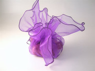 Square Organza Drawstring Bag Purple (1)