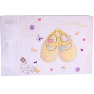 Christening Shoes Guest Book