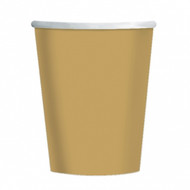 Gold Paper cups (8)
