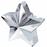 Silver Star metallic Balloon Weight