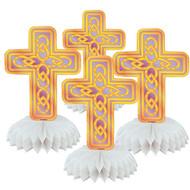 Mini Cross Honeycomb Decorations (4)