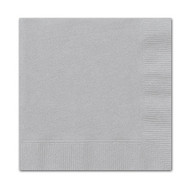 Silver Lunch Napkins (16)