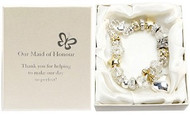 Amore Silver/Gold Bead Charm Bracelet - Maid of Honour