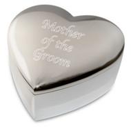 "Amore Porcelain Heart Trinket Box ""Mother of the Groom"""