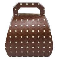 Brown Polkadot Handbag Favour Box