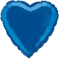 Navy Blue Heart Shaped Foil Balloon