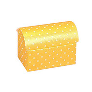 Polka Dot Yellow Chest Favour Box (7cm)