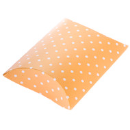 Mini Yellow Polka Dot DIY Pillow Favour Box (1)