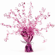 Pink Heart Foil Centrepiece