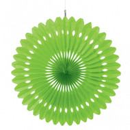 Paper Kiwi Green Hanging Fan Decoration (1)