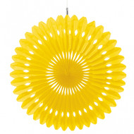 Paper Sunshine Yellow Hanging Fan Decoration (1)