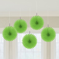 Mini Green Hanging Fan Decoration (5)