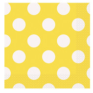 Yellow Big Dots Napkins (16)