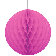 Pink Honeycomb Ball Paper Decoration (1)