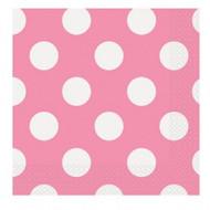 Pink Big Dots Napkins (16)