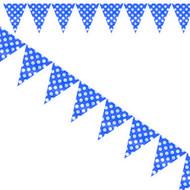 Navy Blue Big Dots Flag Bunting