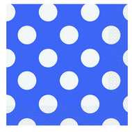 Navy Blue Big Dots Napkins (16)