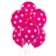 Pink Big Dots Latex Balloons (6)