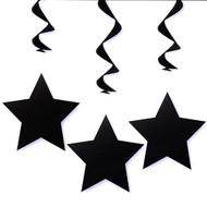 Hanging Star Decorations In Black (3)