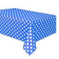 Navy Blue Big Dots Table Cover