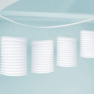 White Paper Lantern Garlands 3.65 m